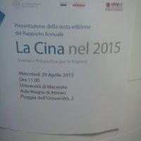 Photo taken at Università degli Studi di Macerata by Roberto B. on 4/29/2015