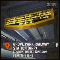 Photo taken at Grove Park Railway Station (GRP) by Sergey Z. on 1/8/2014