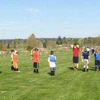 Photo taken at Marymoor Soccer Fields by Peter C. on 4/15/2014