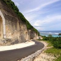 Photo taken at Pantai Pandawa (Pandawa Beach) by Julia B. on 1/30/2013