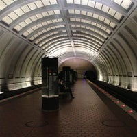 Photo taken at Tenleytown-AU Metro Station by Tonei G. on 10/22/2012