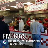 Photo taken at Five Guys by Chris C. on 4/5/2013