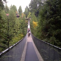 Photo taken at Capilano Suspension Bridge by Juhan on 10/25/2012