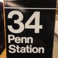 Photo taken at MTA Subway - 34th St/Penn Station (1/2/3) by Erika H. on 4/30/2013