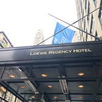 Photo taken at Loews Regency Hotel by Mathieu N. on 10/2/2016