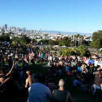 Photo taken at Mission Dolores Park by israel F. on 6/30/2013