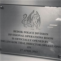 Photo taken at Bedok Police Division HQ / Bedok North Neighbourhood Police Centre by Joash L. on 3/3/2014