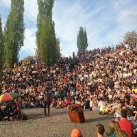 Photo taken at Sonntagskaraoke im Mauerpark by Claudia B. on 5/5/2013
