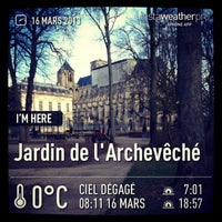 Photo taken at Jardin de l'Archevêché by Maxddz on 3/16/2013