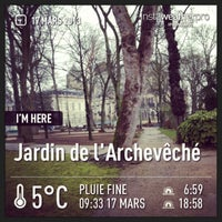 Photo taken at Jardin de l'Archevêché by Maxddz on 3/17/2013