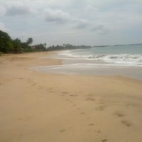Photo taken at Tangalle Beach by Jin on 5/2/2013