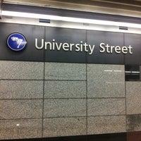 Photo taken at University Street LINK Station by Taku 目. on 12/8/2012