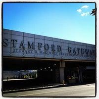 Photo taken at Stamford Transportation Center Bus/Train (STM) Metro North & Amtrak by Derek D. on 9/23/2012