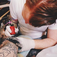 Photo taken at Scapegoat Tattoo by Brian S. on 5/19/2014
