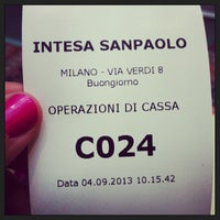 Photo taken at Sede Secondaria Banca Intesa Sanpaolo by Alena A. on 9/4/2013