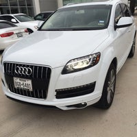 Photo taken at Audi North Houston by Sam W. on 9/15/2014