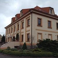 Photo taken at Hotel Zámeček by Katerina C. on 5/16/2014