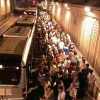 Photo taken at Zincirlikuyu Metrobüs Durağı by Hacer H. on 6/30/2013