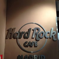 Photo taken at Hard Rock Cafe Madrid by Elena on 4/16/2013