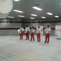 Photo taken at Şişli - Mecidiyeköy Metro İstasyonu by Arif Ö. on 3/3/2013