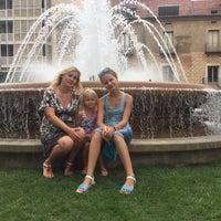 Photo taken at Plaça De La Font Lluminosa by Marina D. on 8/18/2016