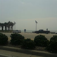 Photo taken at Fort Crockett Seawall Park by Nicholas G. on 7/24/2014