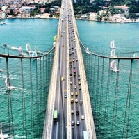 Photo taken at Fatih Sultan Mehmet Bridge by Ezgi E. on 7/12/2013