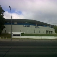 Photo taken at Estadio Polideportivo Islas Malvinas by Hernan S. on 3/24/2013