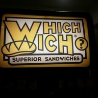 Photo taken at Which Wich? Superior Sandwiches by Alicha Y. on 11/18/2012
