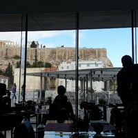 Photo taken at Cafe & Restaurant at Acropolis Museum by Αλέξανδρος Τ. on 2/28/2013