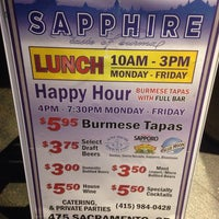 Photo taken at Sapphire Asian Cuisine & Lounge by Casey K. on 4/3/2014