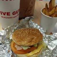Photo taken at Five Guys by Jamie V. on 10/4/2013
