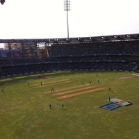 Photo taken at Wankhede Stadium by Nipam S. on 4/13/2013