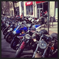 Photo taken at Ducati Triumph New York by Jameson on 3/27/2013