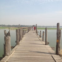 Photo taken at ဦးပိန် တံတား U Bein Bridge by Barbara C. on 2/13/2013