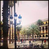 Photo taken at Plaça Reial by Totts O. on 4/4/2013