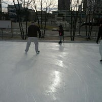 Photo taken at Kendall Square Community Ice Skating by Michael M. on 2/4/2012