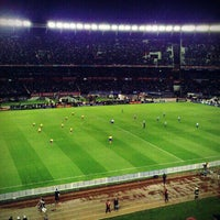Photo taken at Estadio Monumental (River Plate) by Andrés A. on 6/3/2012