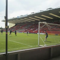 Photo taken at Sincil Bank Stadium-Lincoln City Football Club by Ben H. on 8/11/2012