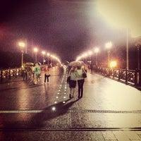 Photo taken at Patriarshiy Bridge by Igor F. on 6/15/2013