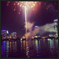 Photo taken at Lake Eola Park by Oscar C. on 7/5/2013