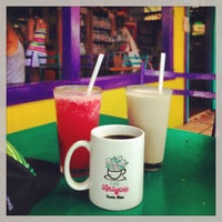 Photo taken at Café Milagro in Manuel Antonio by Alonso P. on 3/28/2013