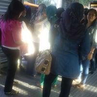 Photo taken at Halte TransJakarta Ancol by Ingrid Y. on 11/20/2013