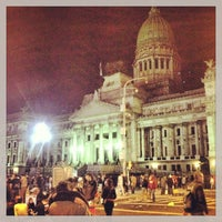 Photo taken at Plaza del Congreso by Leandro O. on 5/4/2013