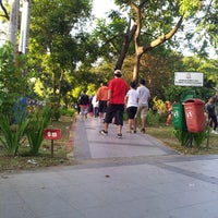 Photo taken at Taman Segitiga Macan by Abbas A. on 3/30/2013
