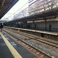 Photo taken at JR 三国ヶ丘駅 (Mikunigaoka Sta.) by sambo 3. on 3/23/2013