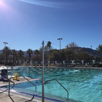 Photo taken at Palm Desert Aquatic Center by Brian M. on 12/29/2015