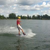 Photo taken at Ozolnieku Wakeboard by Baiba J. on 8/16/2013
