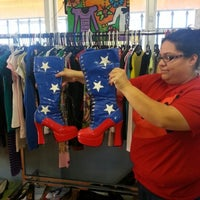Photo taken at Texas Trash Clothing Exchange by Debi T. on 12/20/2012