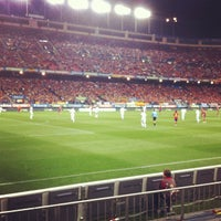 Photo taken at Estadio Vicente Calderón by Roch on 10/16/2012